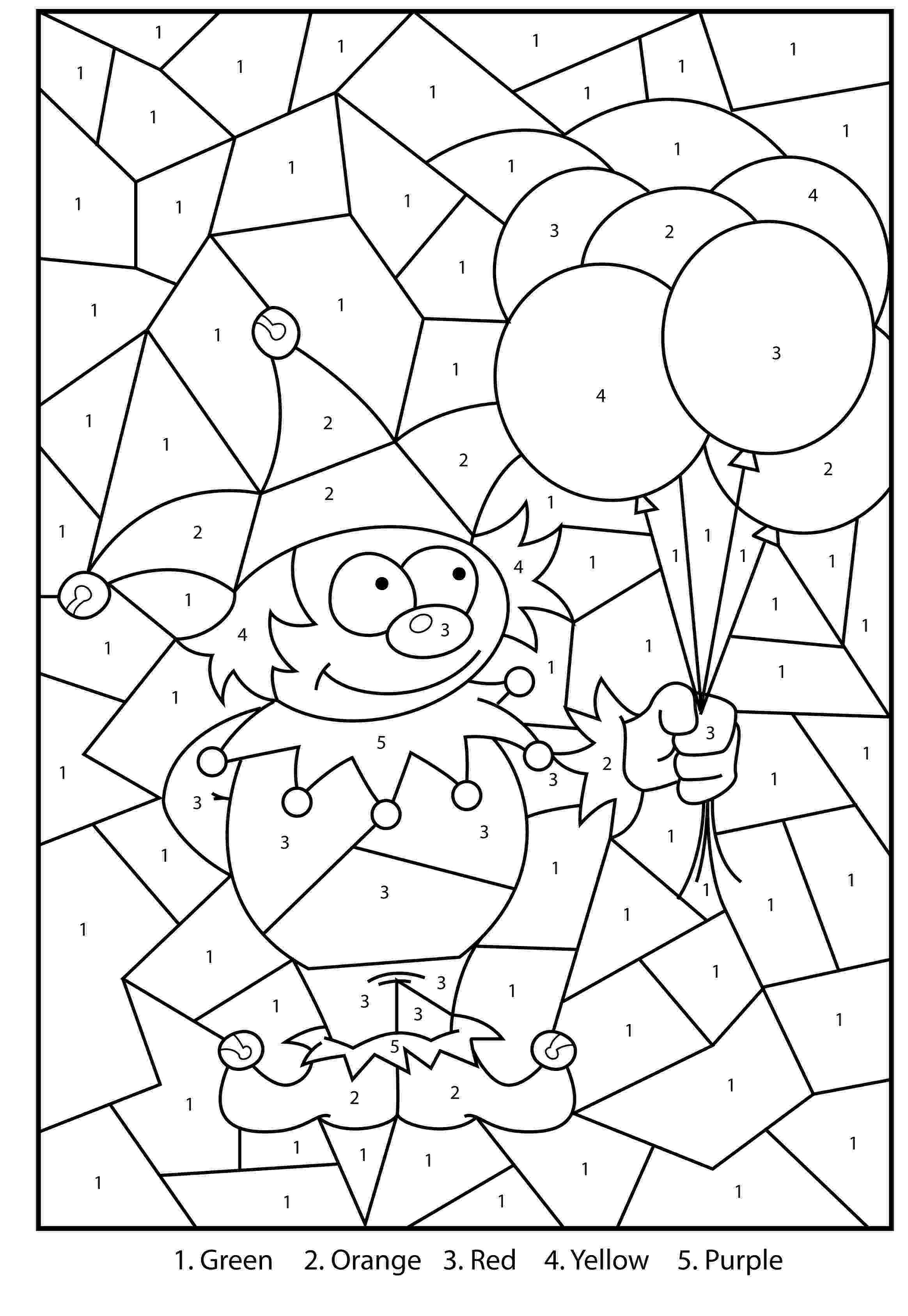 free printable color by number free printable jester colour by numbers activity for kids color by number free printable