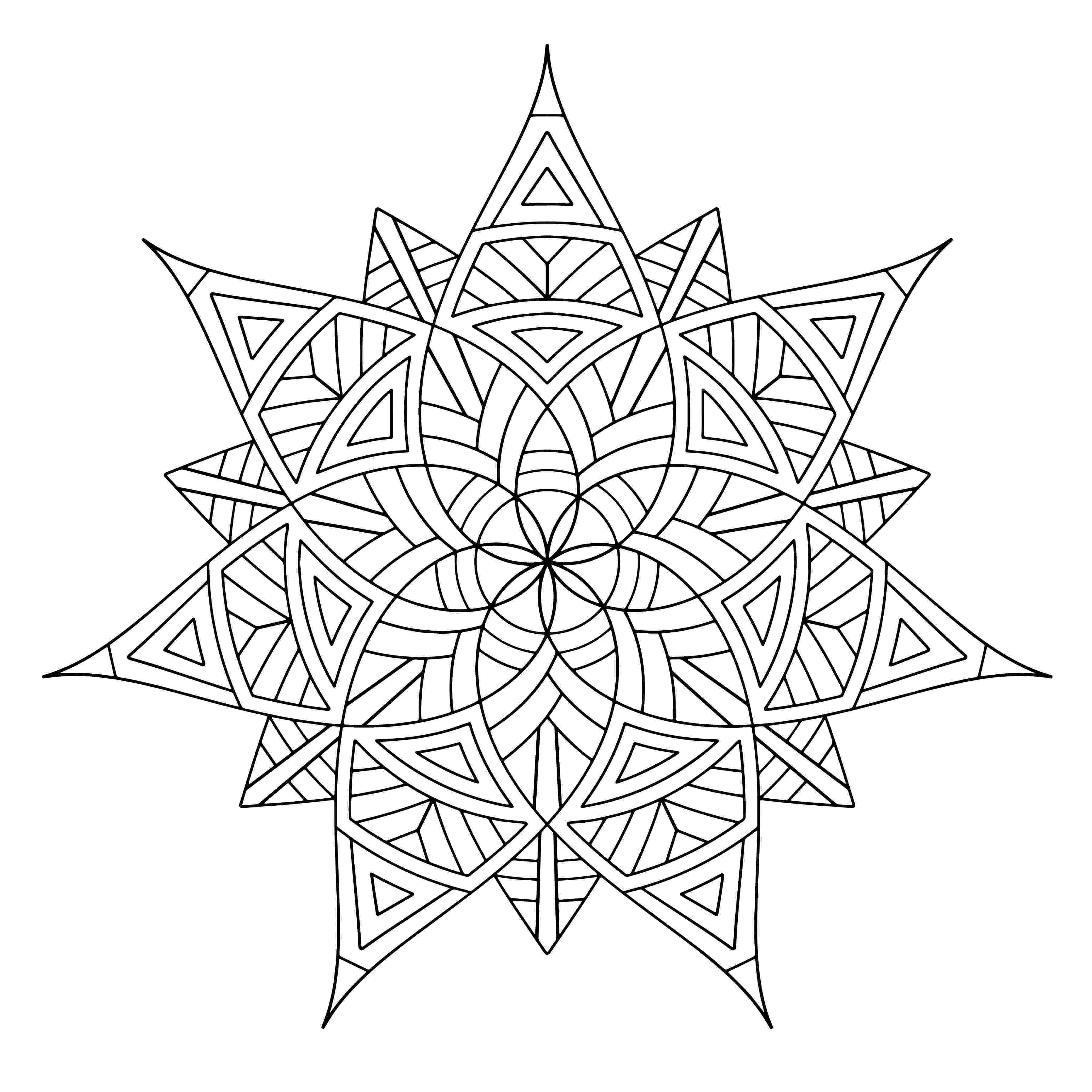 free printable coloring pages for adults geometric free printable geometric coloring pages for adults coloring geometric pages adults for printable free