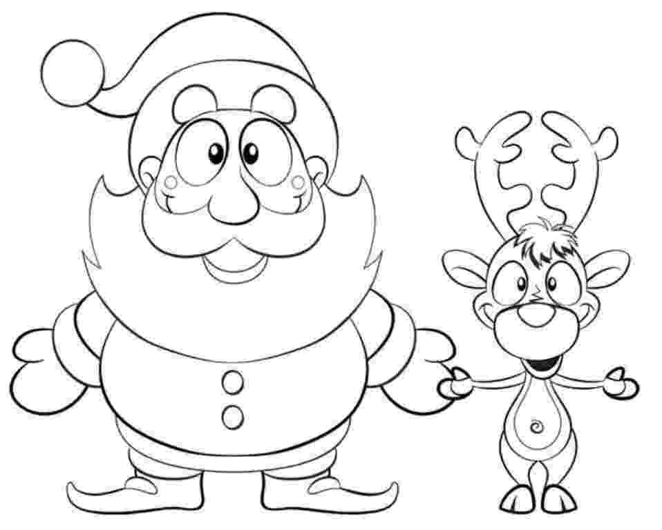 free printable coloring pages reindeer printable santa and reindeer coloring page christmas free printable reindeer pages coloring
