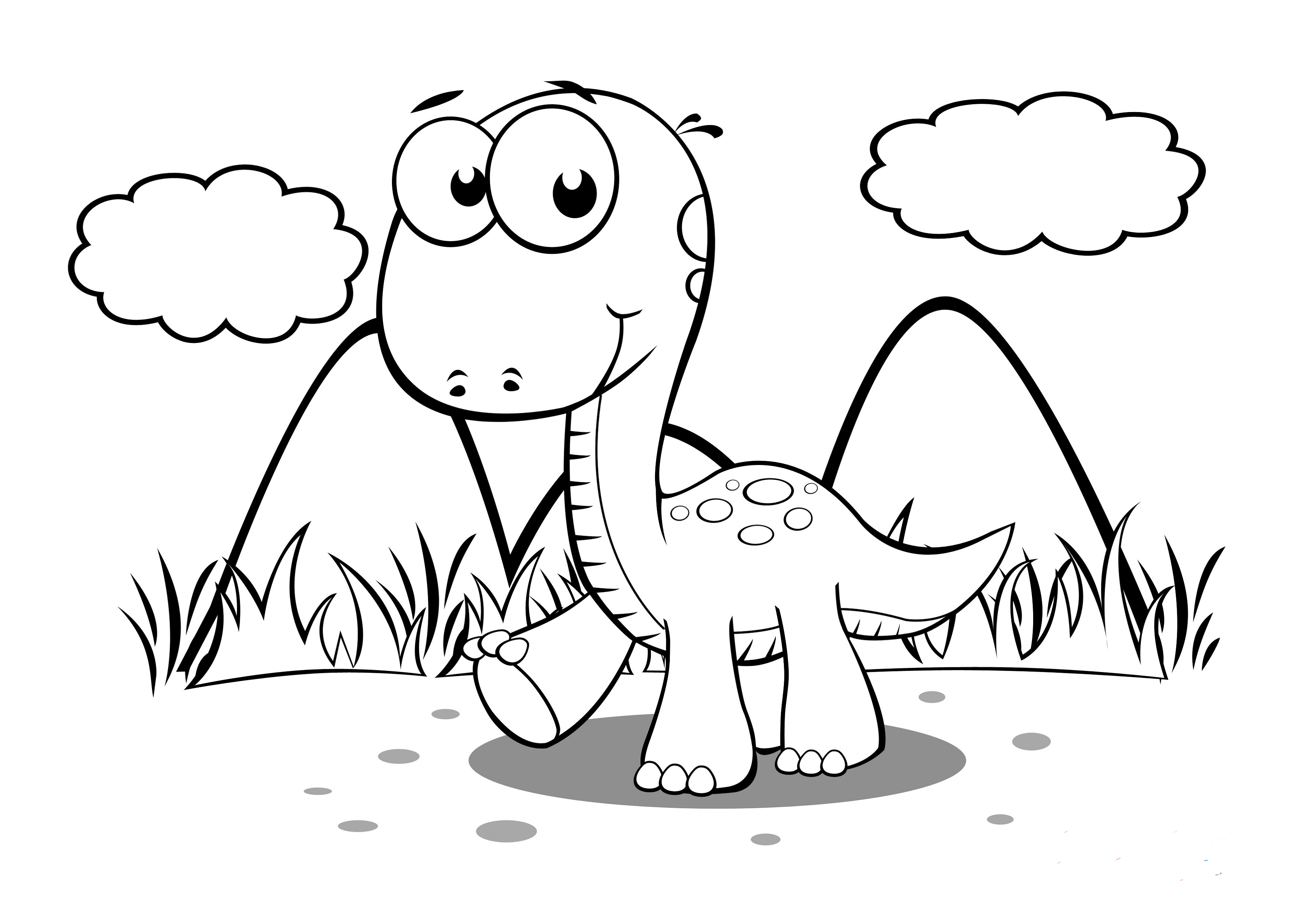 free printable dinosaur pictures baby dinosaur coloring pages for preschoolers activity pictures dinosaur printable free