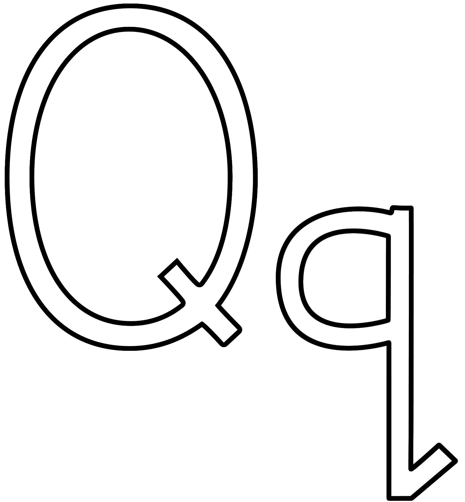 free printable letter q coloring pages printable letter q template alphabet letter q templates coloring q free letter pages printable