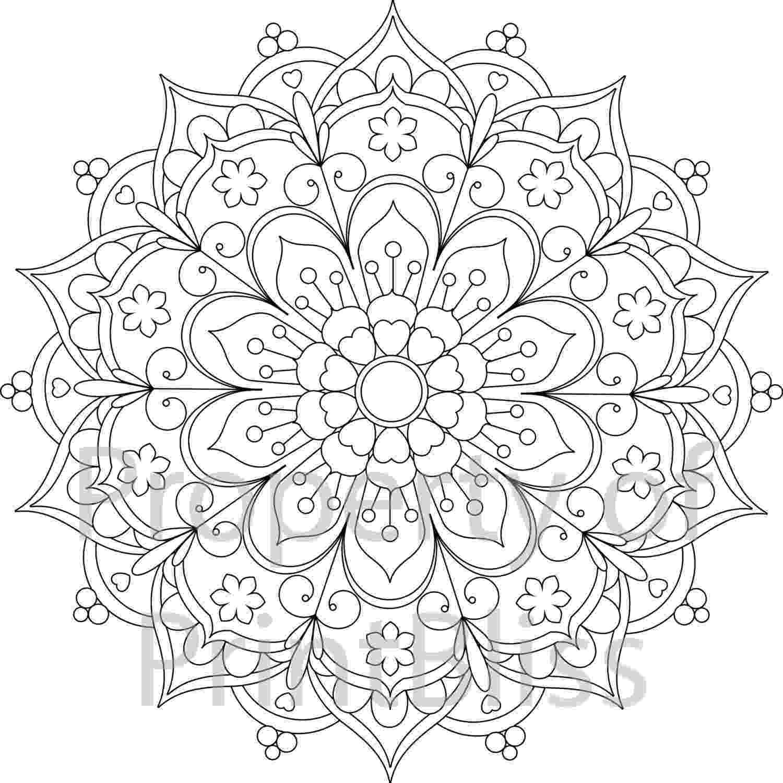 free printable mandala designs 25 flower mandala printable coloring page by printbliss free mandala printable designs