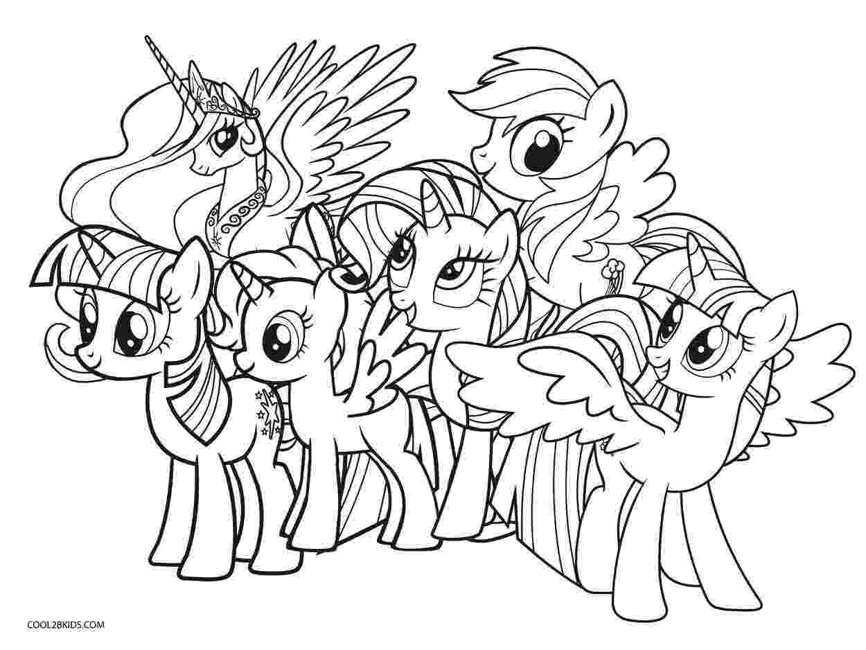 free printable my little pony ponies from ponyville coloring pages free printable pony little my free printable