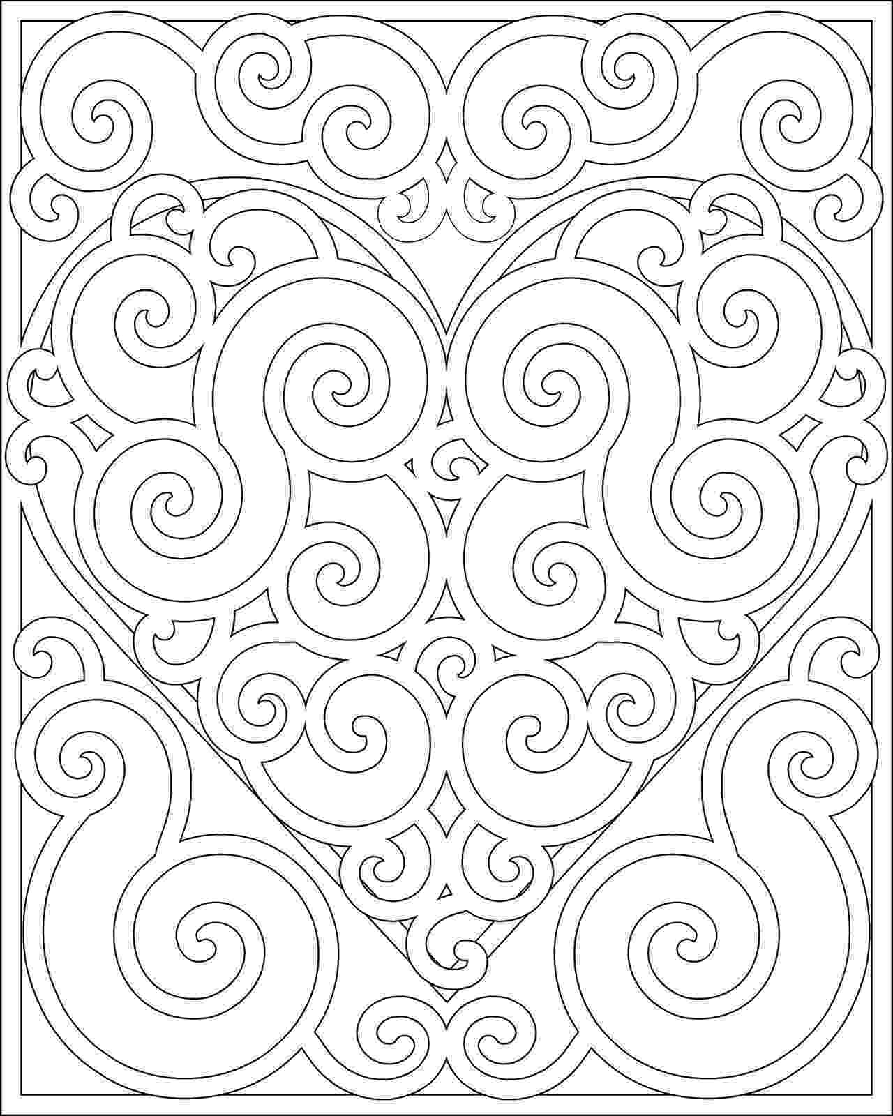 free printable pattern coloring pages hearts and stars pattern coloring page free printable printable free pattern coloring pages