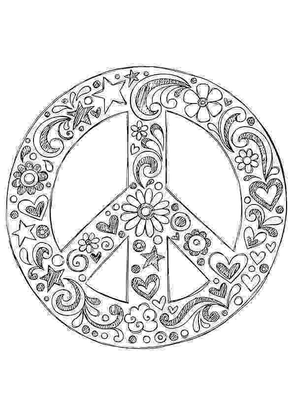 free printable peace sign coloring pages american hippie coloring page zentangle art peace coloring free sign printable pages peace