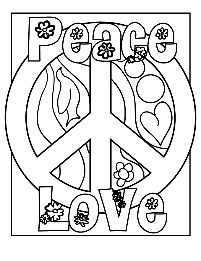 free printable peace sign coloring pages peace sign coloring pages coloringpagesabccom sign printable coloring pages free peace