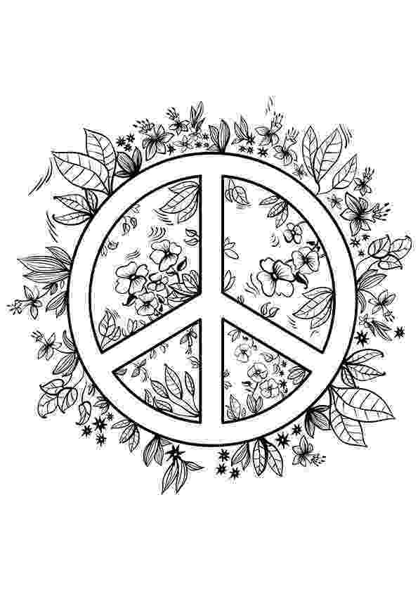 free printable peace sign coloring pages simple and attractive free printable peace sign coloring peace coloring printable sign free pages