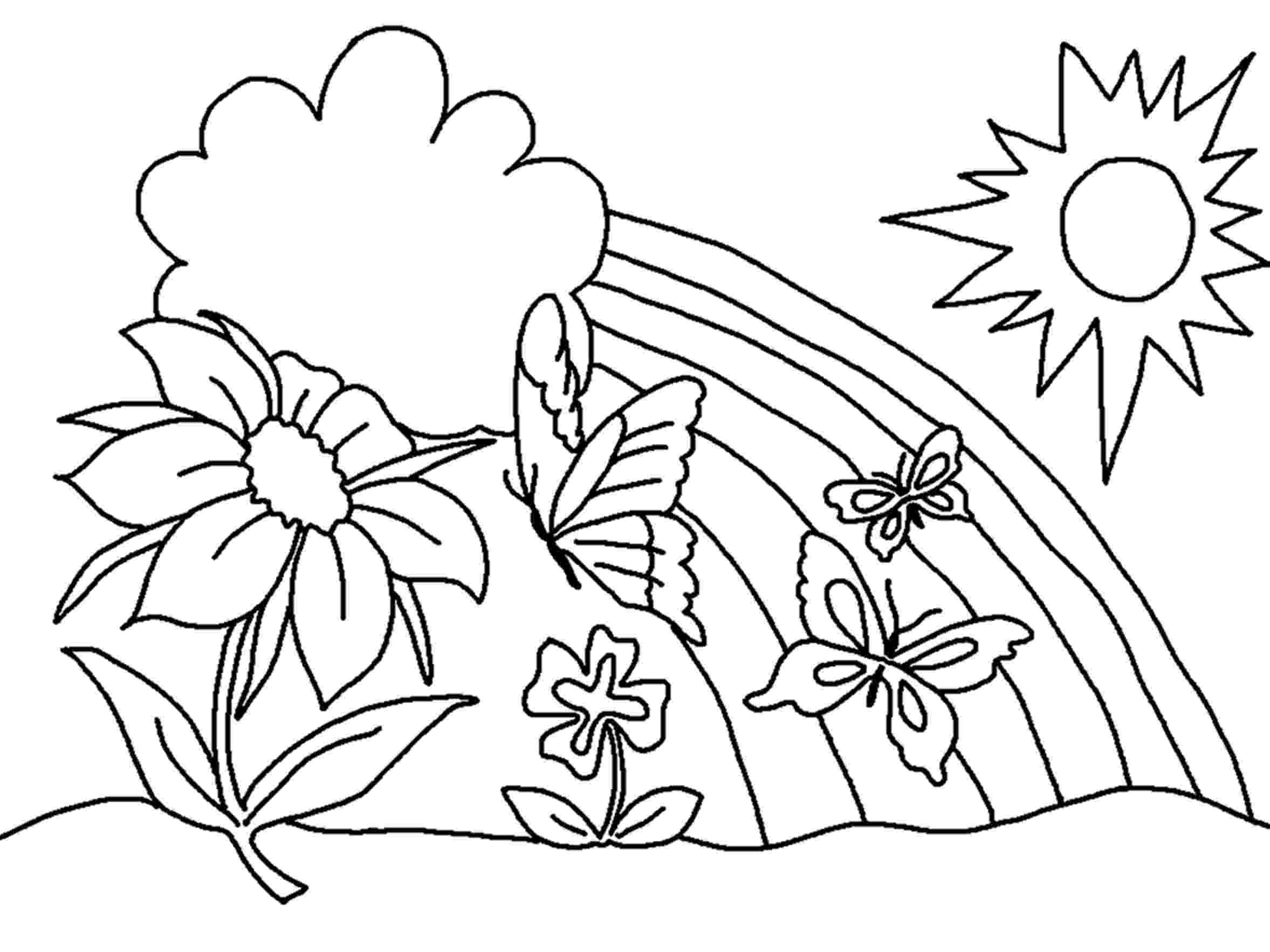 free printable spring flower coloring pages spring flowers drawing at getdrawingscom free for spring printable coloring flower free pages