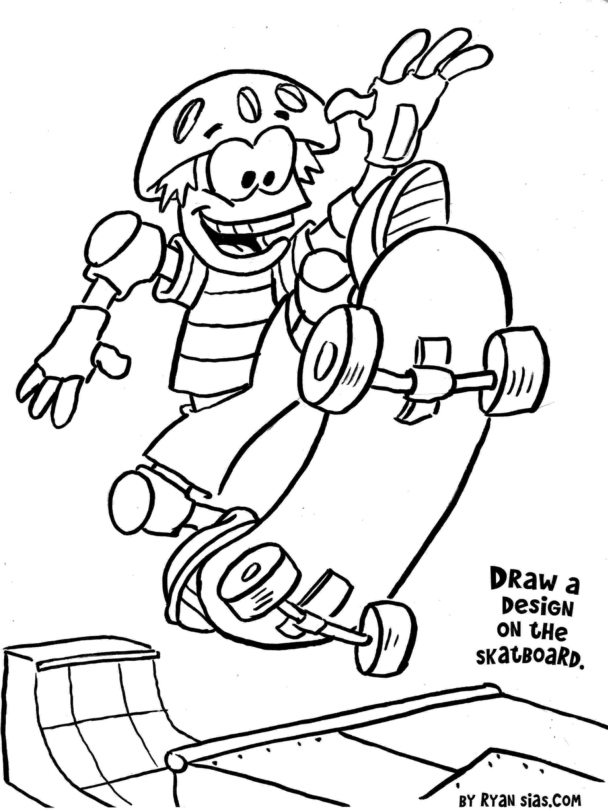 free sports coloring sheets free printable sports coloring pages skateboard sheets coloring free sports