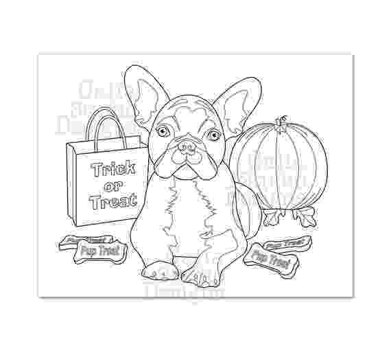 french bulldog coloring pages cute french bulldog halloween coloring page instant french bulldog coloring pages