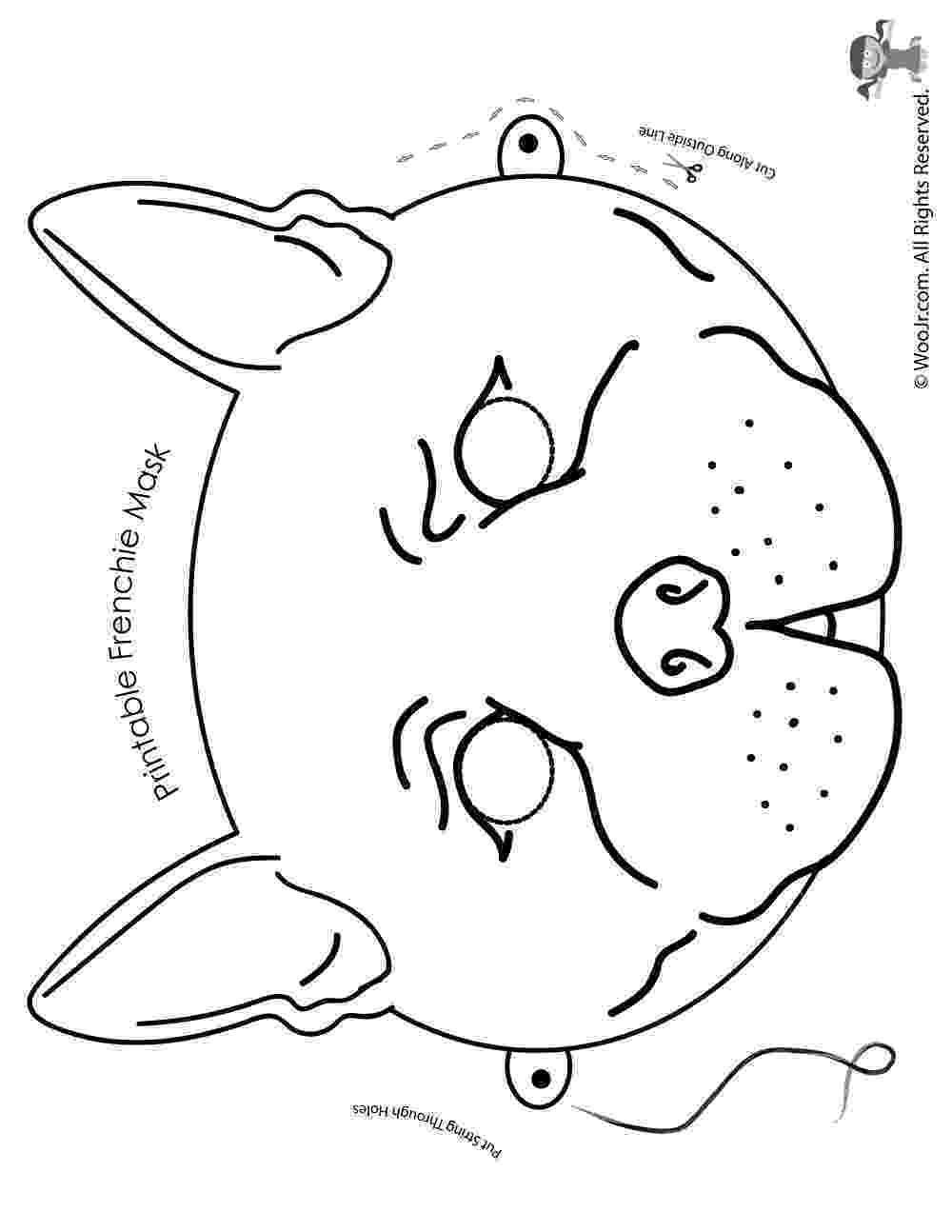 french bulldog coloring pages french bulldog mask coloring page woo jr kids activities french coloring bulldog pages