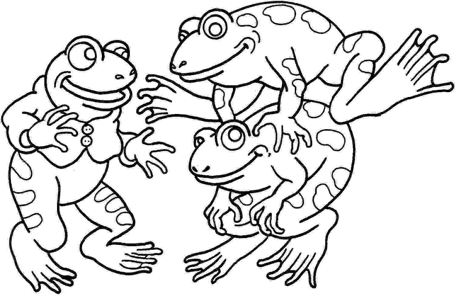 frog to color free printable frog coloring pages for kids color frog to 1 1