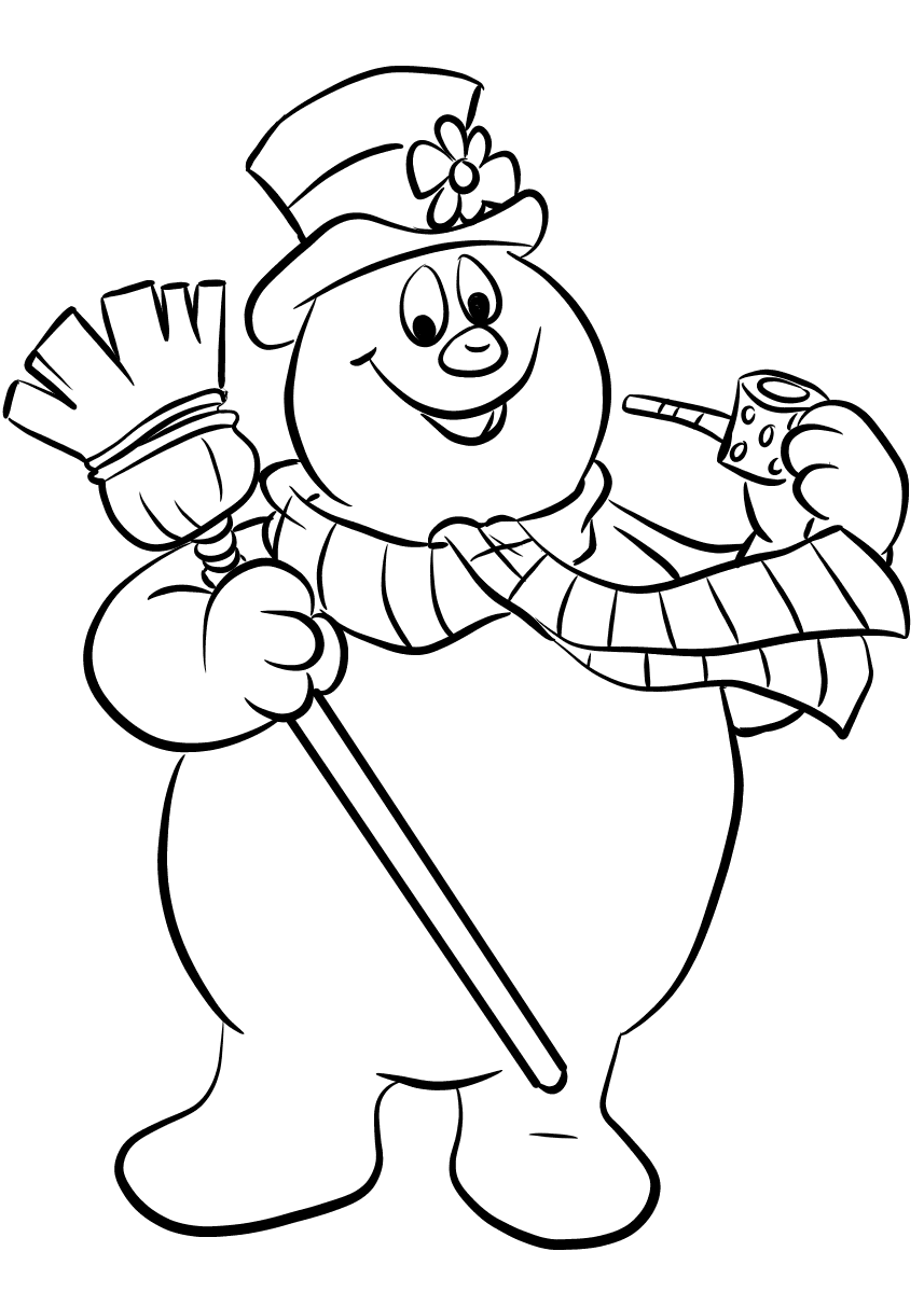 frosty color free printable frosty the snowman coloring pages best color frosty