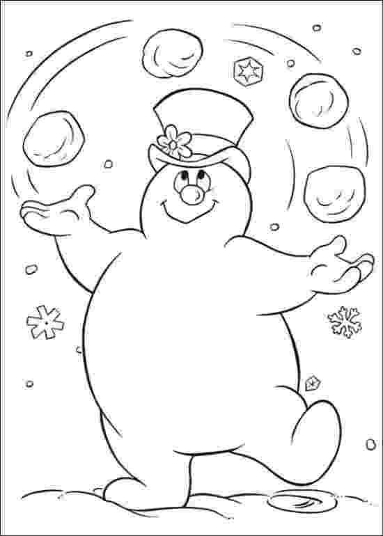 frosty color free printable frosty the snowman coloring pages best frosty color