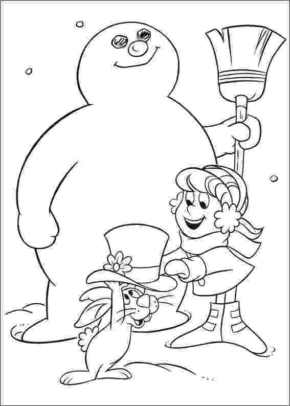 frosty color free printable frosty the snowman coloring pages best frosty color 1 2