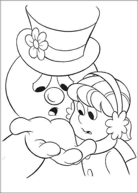 frosty color frosty snowman coloring for kids frosty coloring pages frosty color