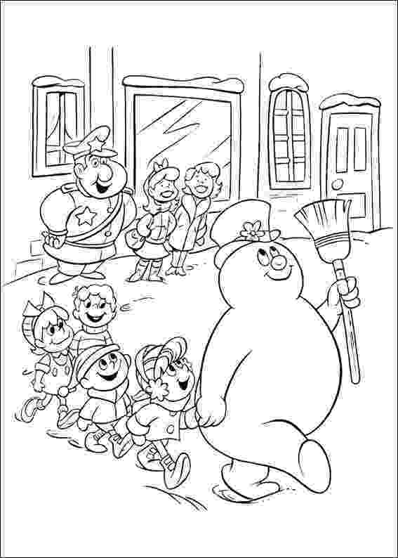 frosty color frosty the snowman coloring pages getcoloringpagescom color frosty