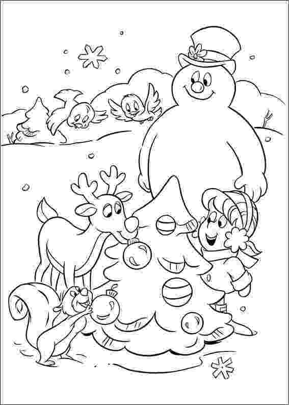 frosty color kids n funcom 24 coloring pages of frosty the snowman frosty color