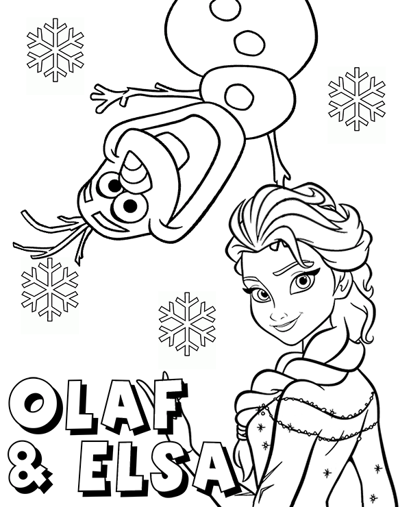 frozen olaf coloring snowman olaf and princess elsa coloring page sheet frozen olaf coloring