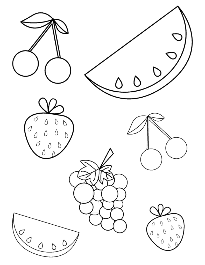 fruit coloring sheets basketful to color crafts fruit and vegetables fruit coloring sheets