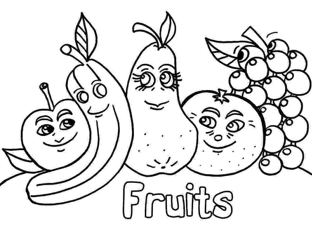 fruit images to color free printable fruit coloring pages for kids color images to fruit