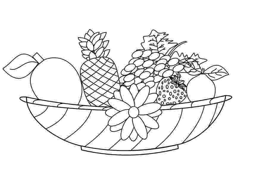 fruit images to color free printable fruit coloring pages for kids fruit to color images