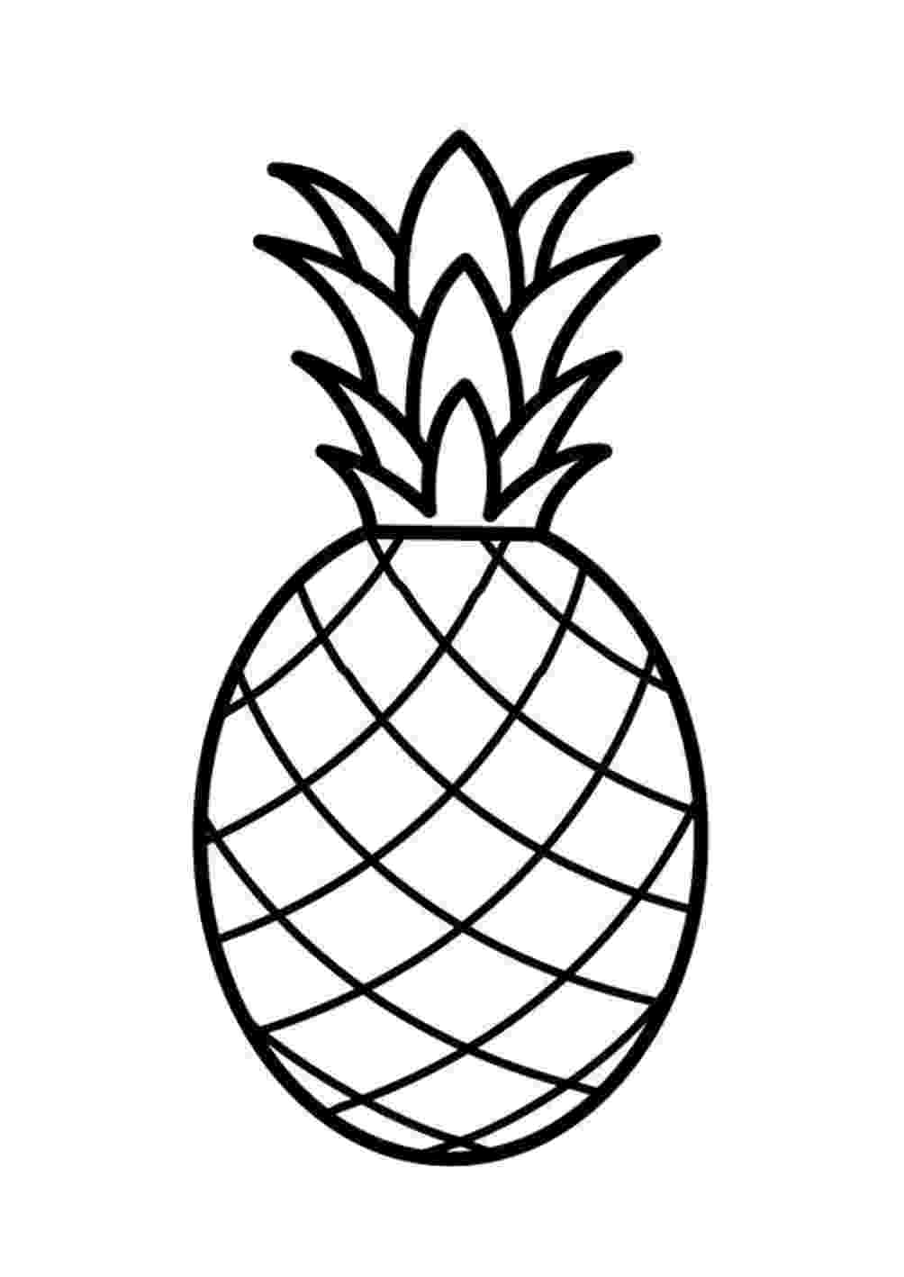 fruit images to color free printable fruit coloring pages for kids fruit to images color