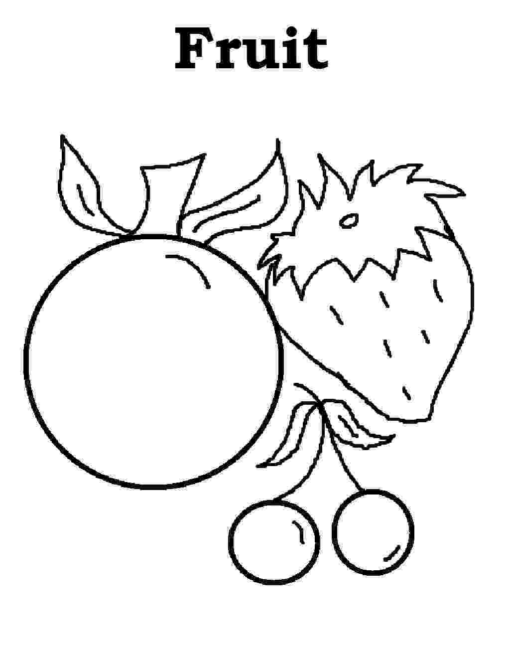 fruit images to color free printable fruit coloring pages for kids to fruit color images