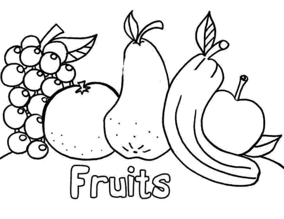fruit images to color pin about fruit coloring pages on coloring pages at fruit images color to