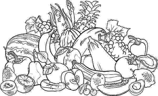 fruits and vegetables coloring fruits and vegetables drawing at getdrawings free download fruits coloring vegetables and
