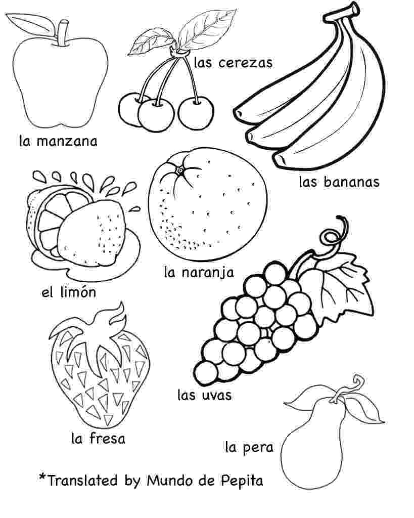 fruits and vegetables coloring multilingual printables fruits and vegetables in 7 languages fruits vegetables coloring and