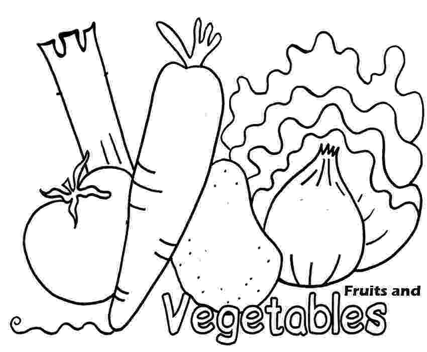 fruits and vegetables coloring printable healthy eating chart coloring pages vegetables coloring and fruits