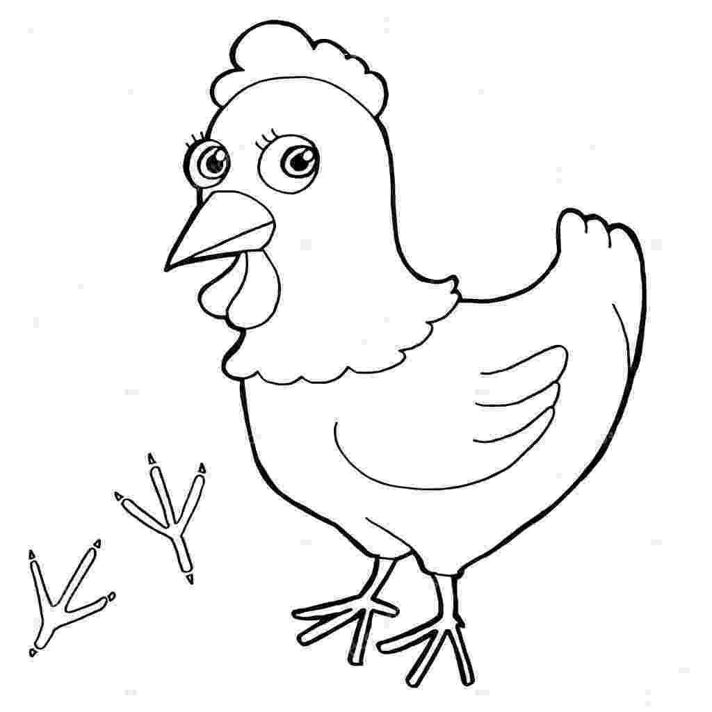 gallina para colorear gallina para colorear para colorear gallina