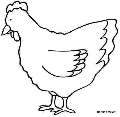 gallina para colorear gallina wchaverri39s blog para gallina colorear