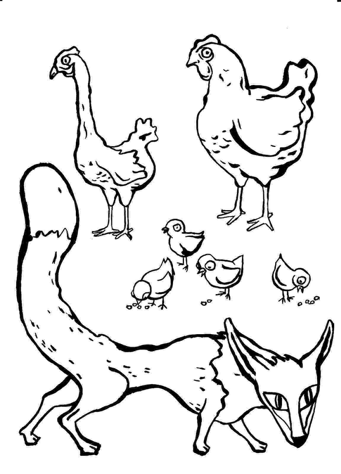gallina para colorear pz c imagenes para colorear colorear para gallina