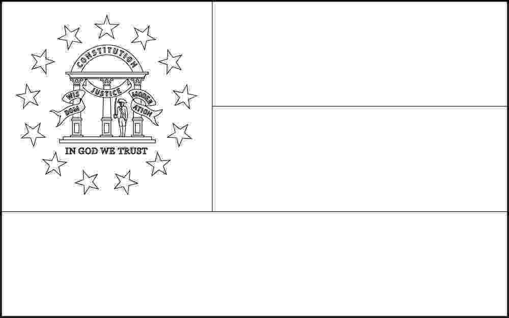georgia state flag to color free printable georgia state flag color book pages 8 x 11 to state flag color georgia