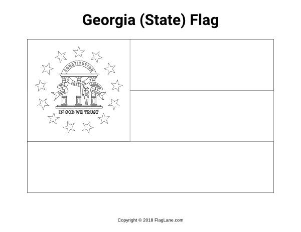georgia state flag to color georgia state flag coloring page flag to state color georgia