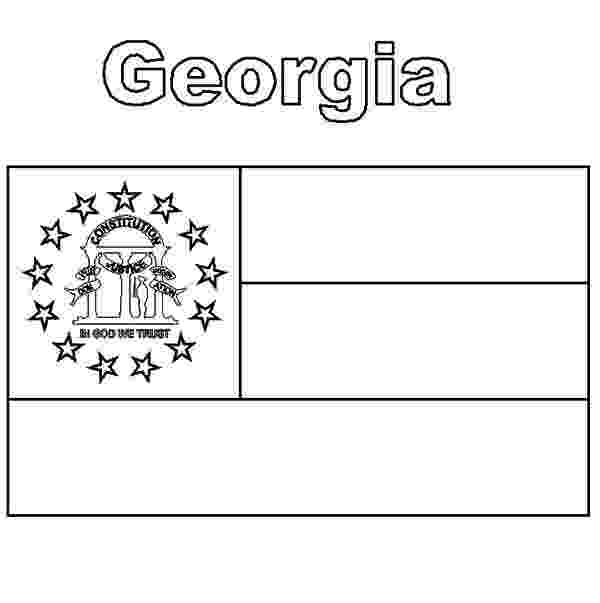 georgia state flag to color state flag of georgia coloring page free printable color georgia flag state to
