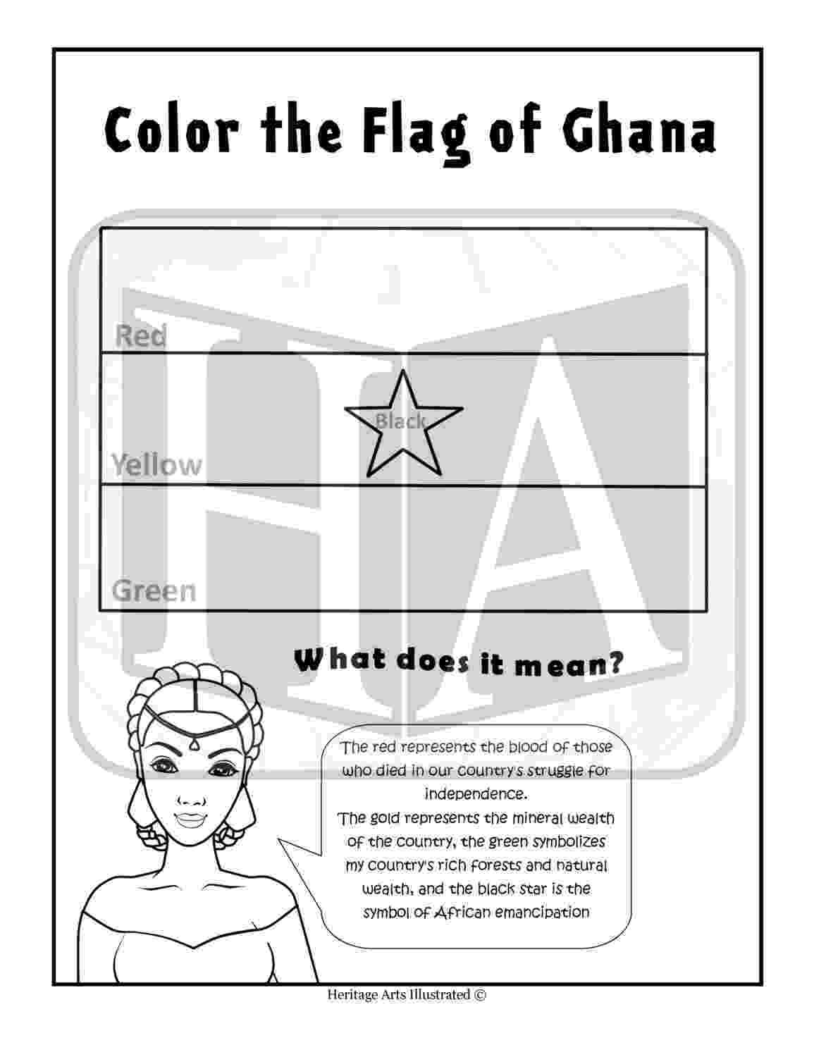 ghana flag coloring page 1 flag of ghana coloring page by heritageartsillstd on etsy ghana page coloring flag