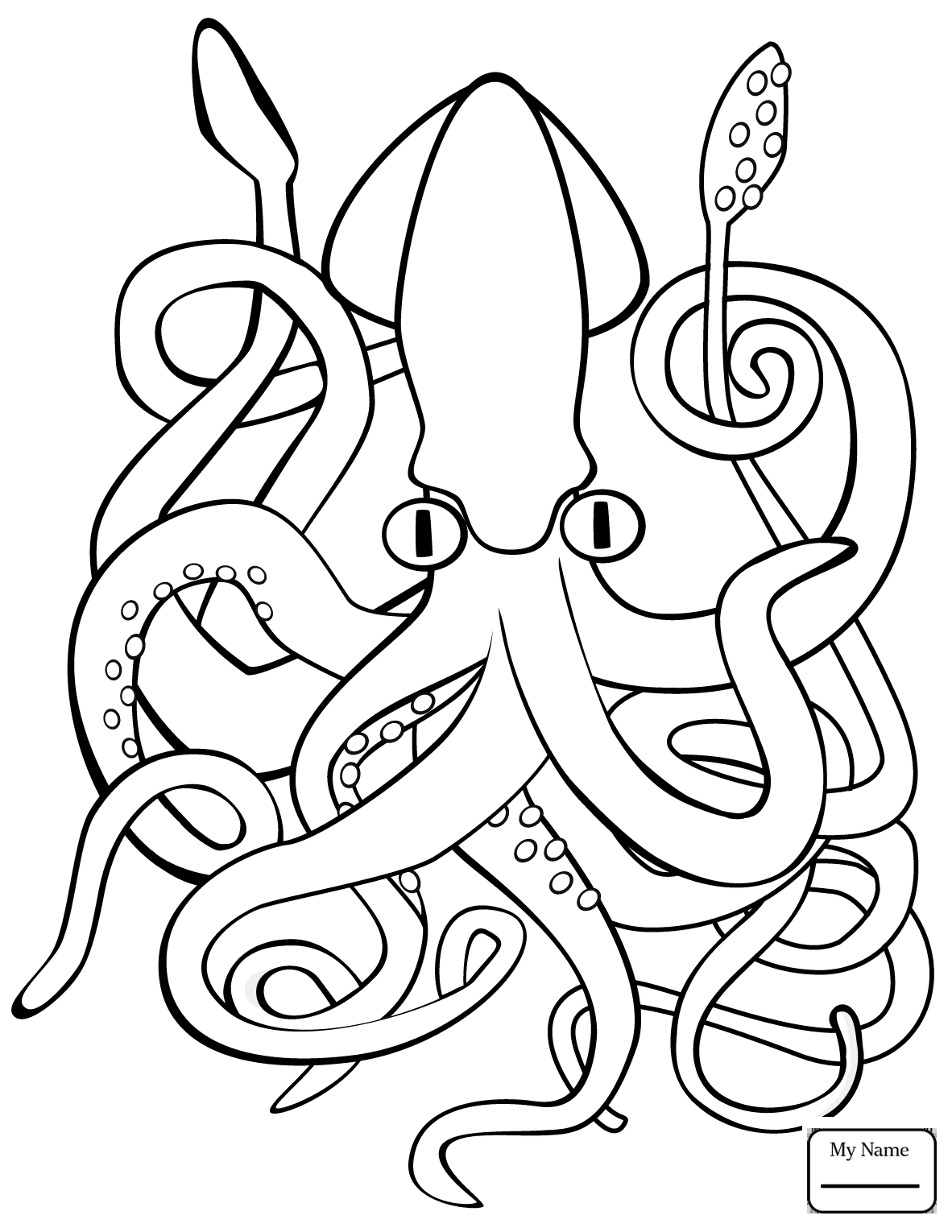 giant squid coloring pages fish and marine mammals coloring pages surfnetkids pages giant squid coloring