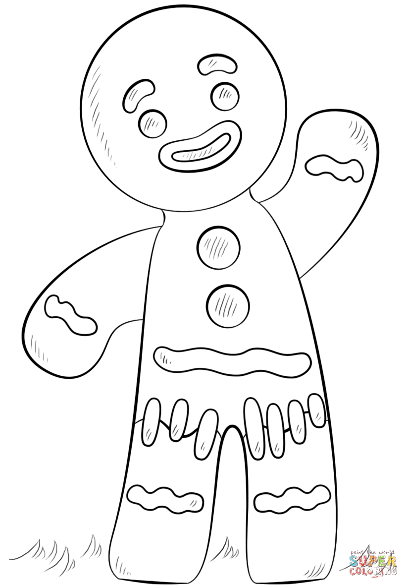 gingerbread color free printable gingerbread man coloring pages for kids gingerbread color