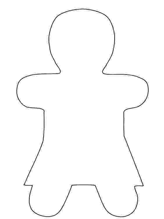 gingerbread girl template printable templates gingerbread and patterns on pinterest printable girl gingerbread template