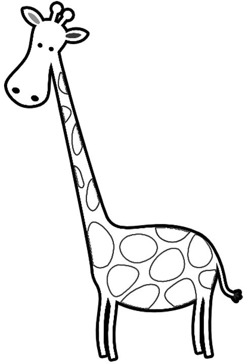 giraffe to color cartoon giraffes coloring page printable giraffe giraffe to color
