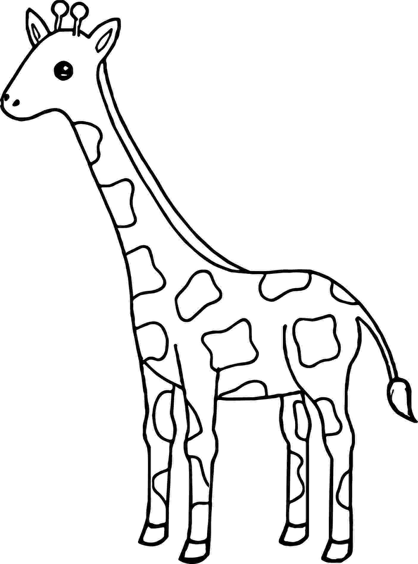 giraffe to color print download giraffe coloring pages for kids to have fun color to giraffe