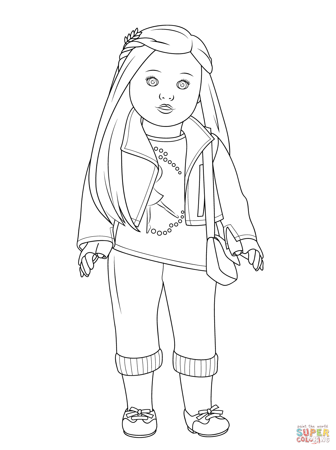 girl colering pages american girl coloring pages beforever small dolls in a colering pages girl