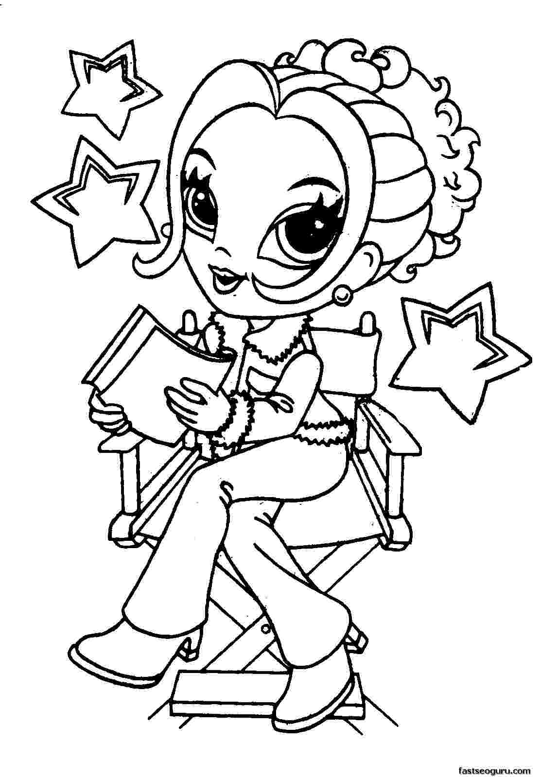 girl pictures to color and print best free printable coloring pages for kids and teens pictures color girl and to print
