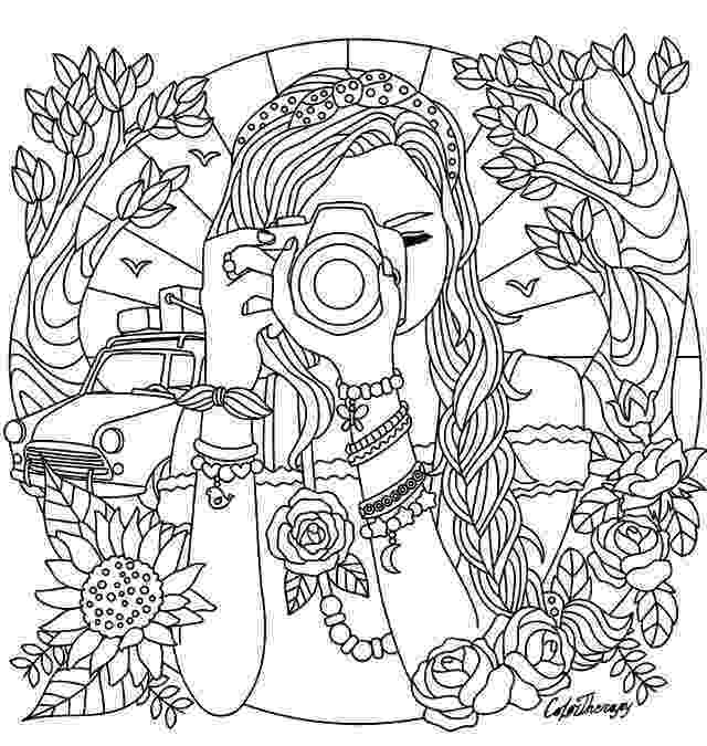 girl pictures to color and print camera coloring pages girl with a camera coloring page color print and to girl pictures