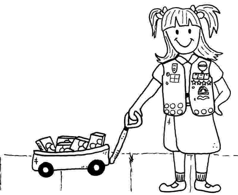 girl scout cookies coloring pages 88 best girl scout cookies images on pinterest brownie scout girl cookies pages coloring