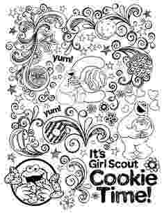 girl scout cookies coloring pages cookie coloring pages getcoloringpagescom scout cookies pages girl coloring