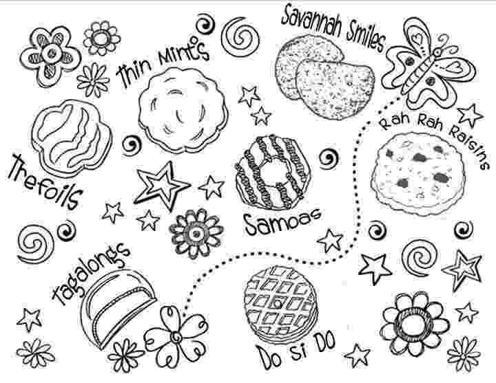 girl scout cookies coloring pages girl scout cookies coloring pages timeless miraclecom pages cookies coloring girl scout